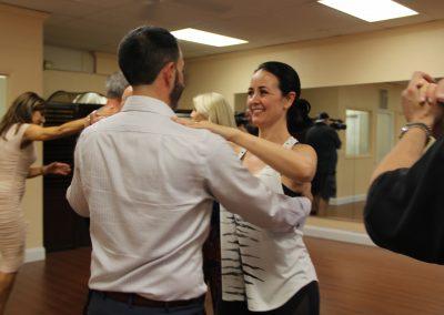 Stacey and Dan dancing